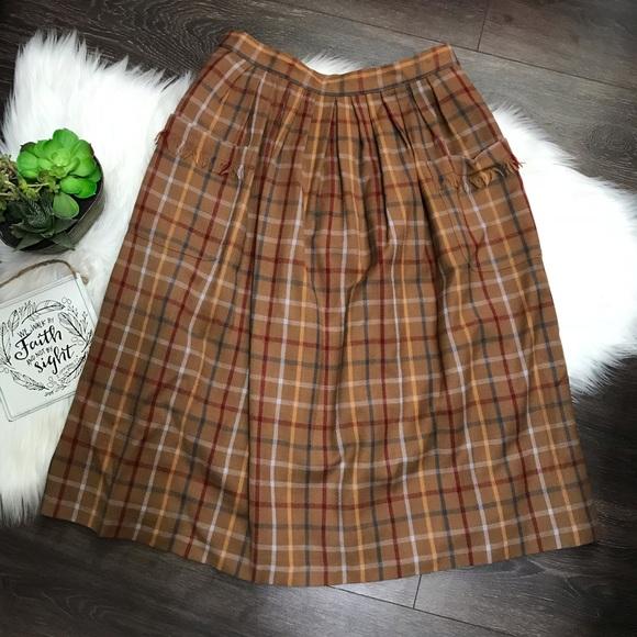 43fb083bcc vinatge Skirts   Vintage Paula Saker Wool Plaid Midi Skirt Sz 12 ...
